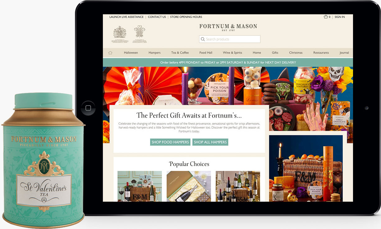 The logo of Fortnum & Mason
